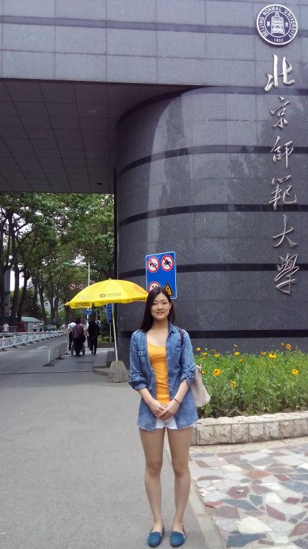 2015年9月,长谷部加穗如愿成为了北京师范大学的中国留学生。.jpg